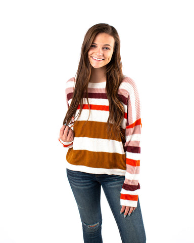 Multi Stripe Colored Sweater