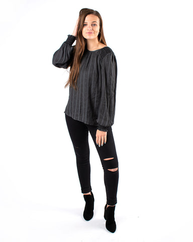 Flower Striped Long Sleeve