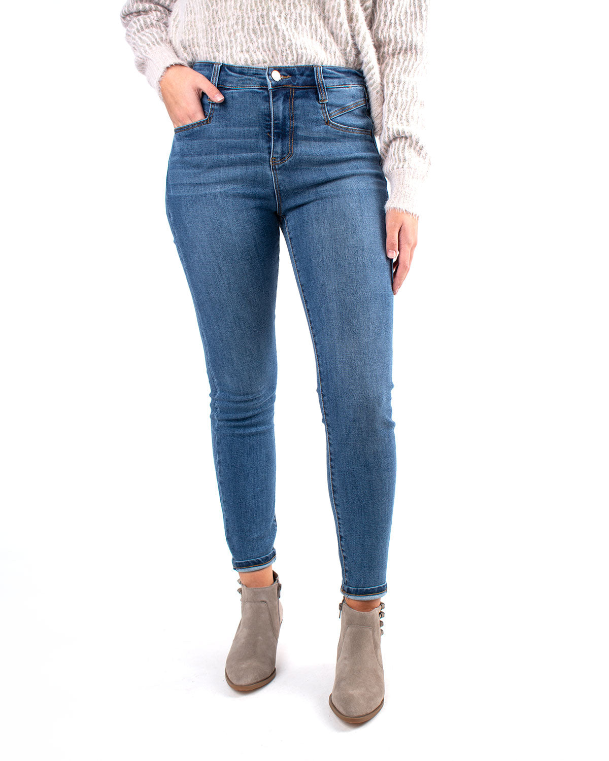 Abby High Rise Ankle Skinny