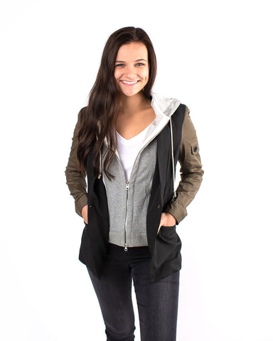 Hood Insert Shirt Jacket