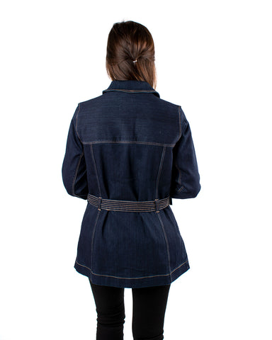 Belted Long Jacket