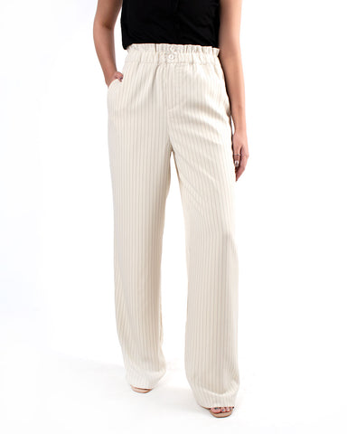 Striped Paper Bag Pull On Pants