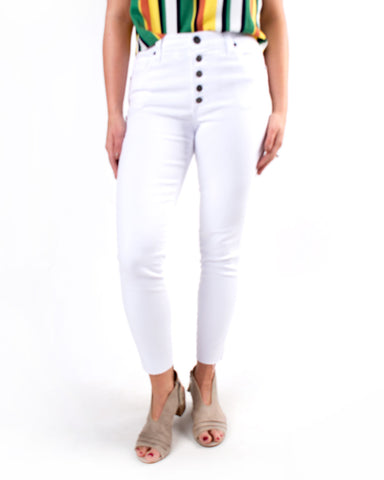 Connie High Rise Ankle Skinny Button Fly