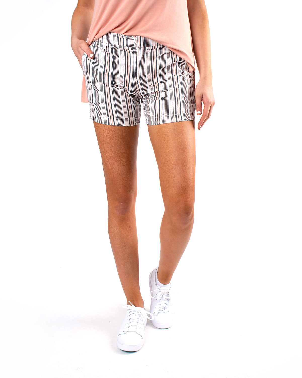 Trouser Short with Welt Stretch