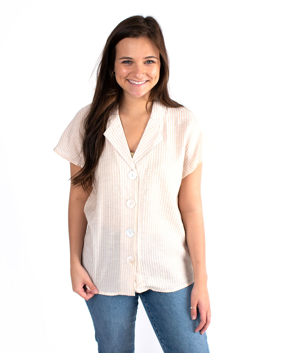 Vera Button Front Top