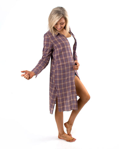 Flannel Maxi Dress