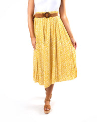 Vintage Pebble Belted Daisy Skirt