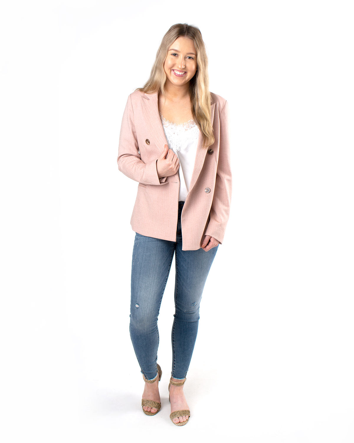 Button-Up Blazer Jacket