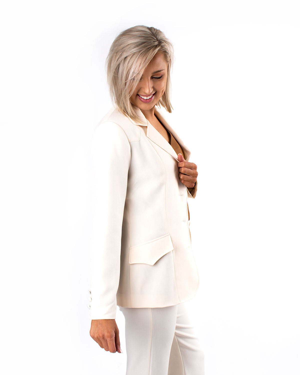 Tailored Button Blazer
