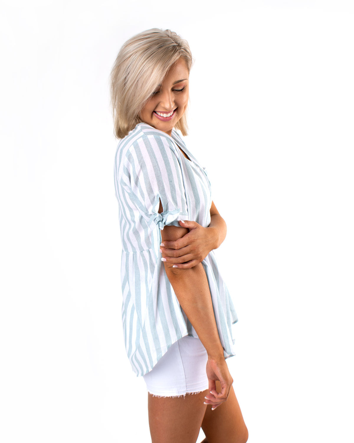 Stripe With Pocket Top