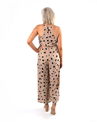 Surplice Dot Jumpsuit