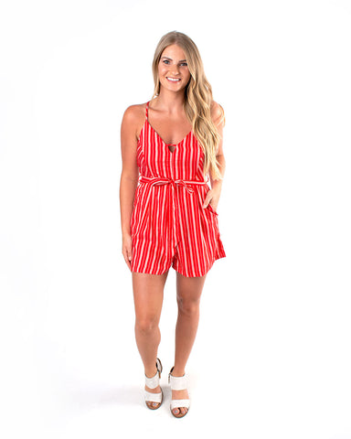 Striped Tie Romper