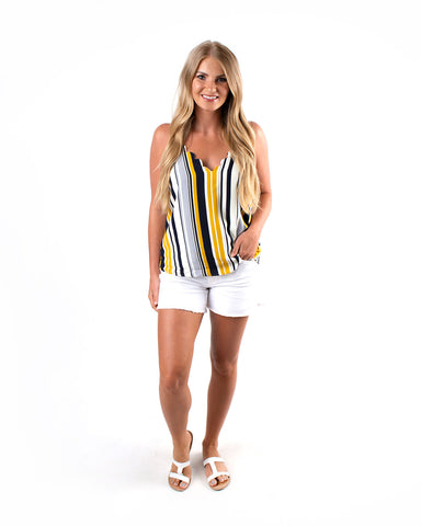 Scallop Edge Stripe Cami