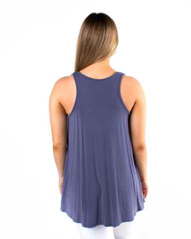 Flowy Pocketed Tunic Tank