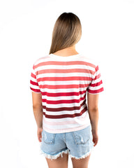 The Rainbow Stripe Tee