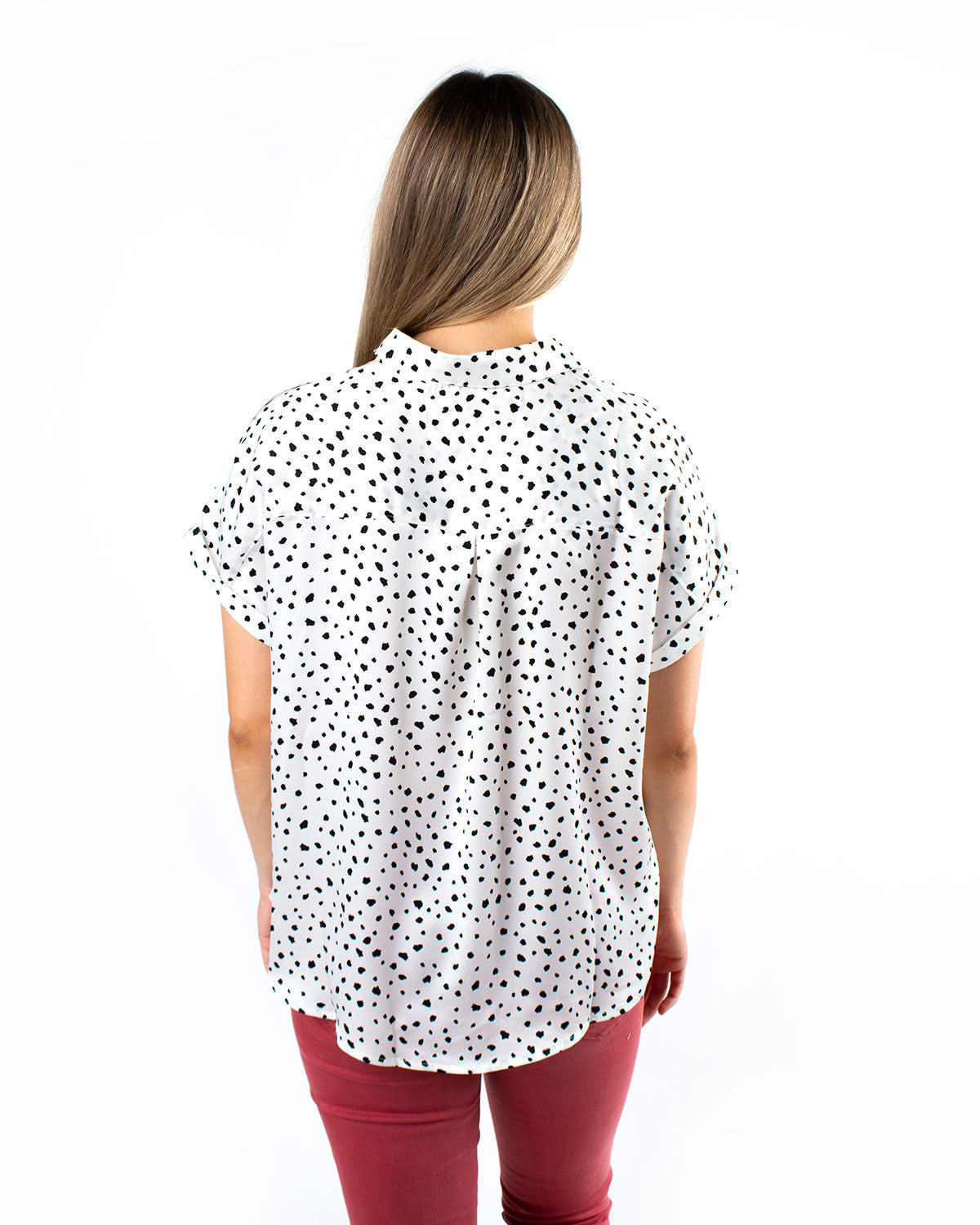 Leopard Button Down Satin Shirt
