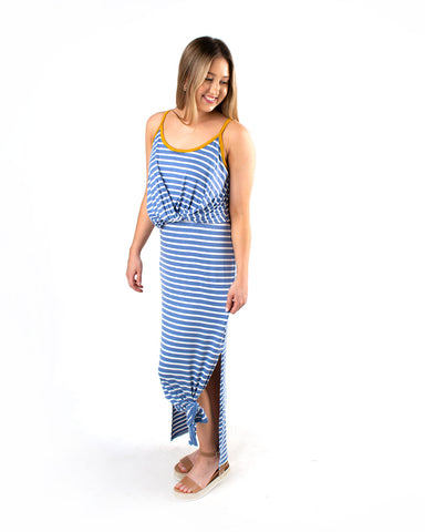 Twist Front Side Slit Maxi Dress
