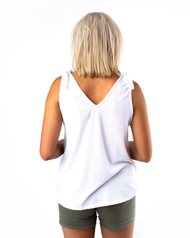 Tie Shoulder Knit Tank
