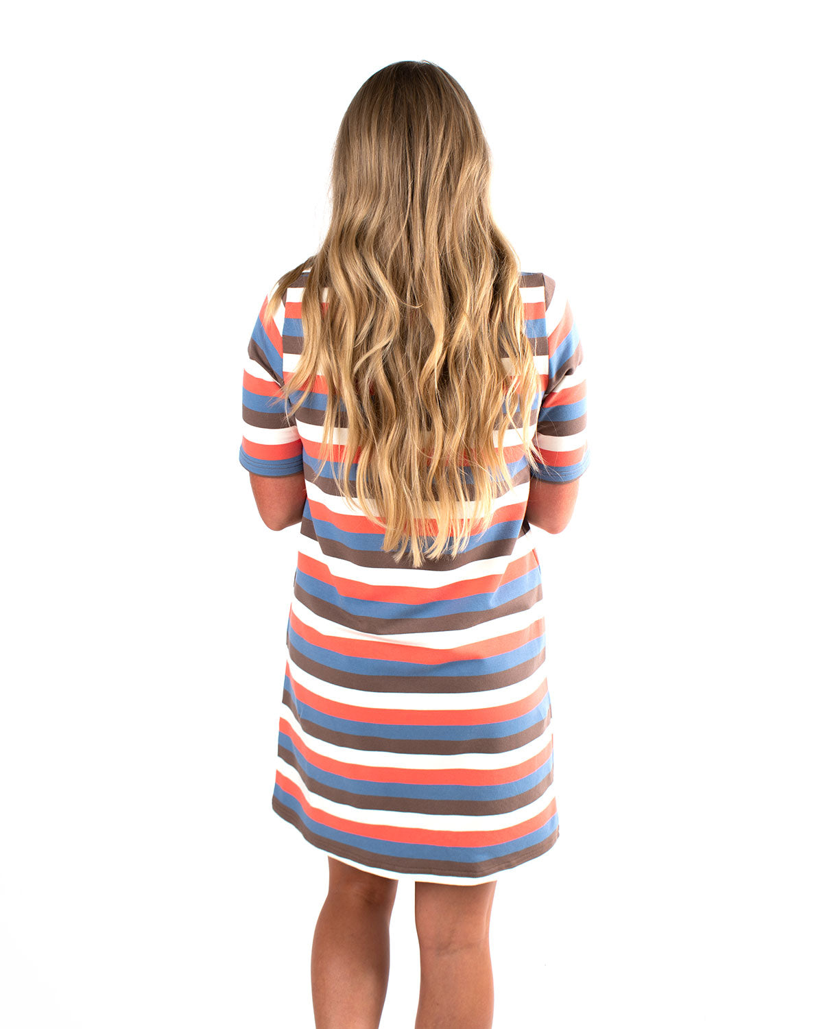 Short Sleeve Striped TShirt Dress