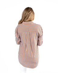 Oversized Striped Classic Button Down