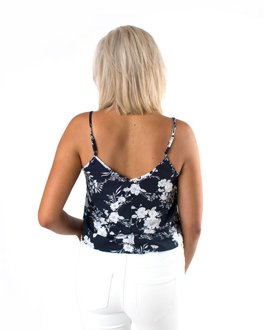 Twisted Waist Floral Cami Top