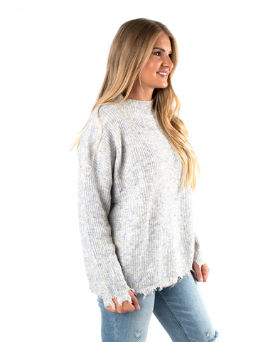 Distressed Two Tone Sweater