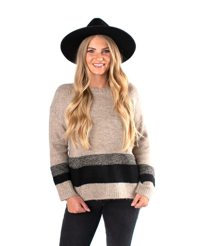 Bottom Color Block Sweater