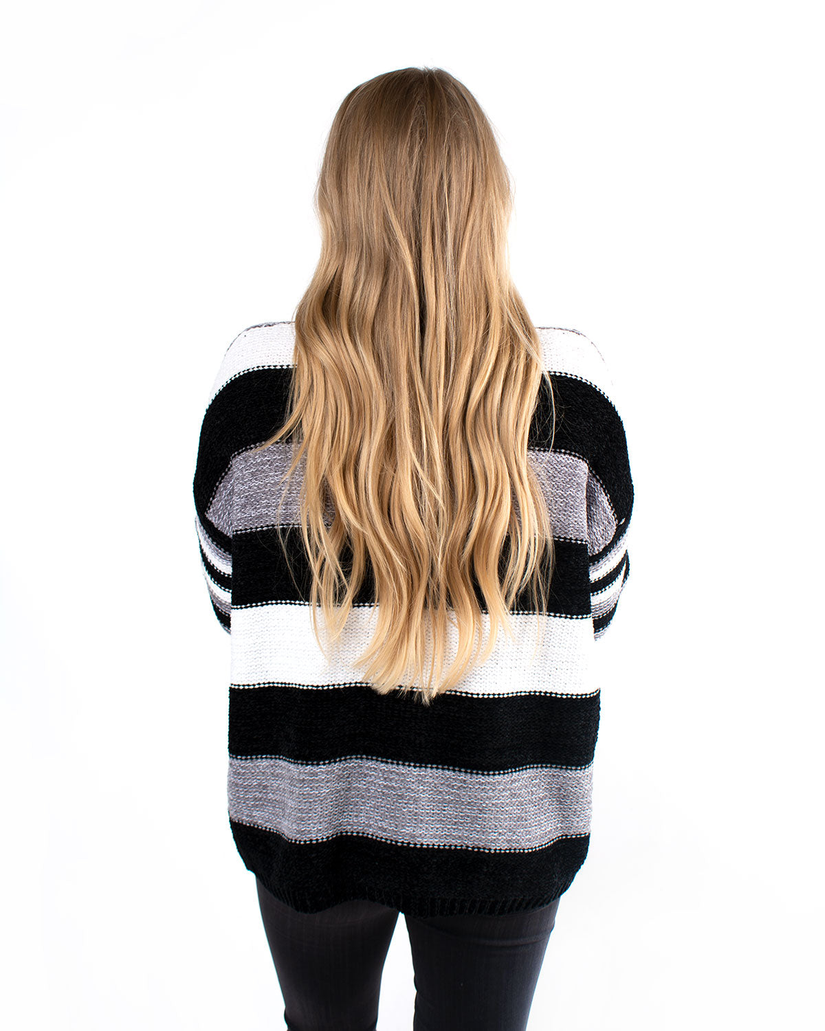 Monochrome Striped Soft Sweater