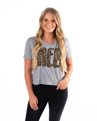 Cheetah Neb Cropped Tee