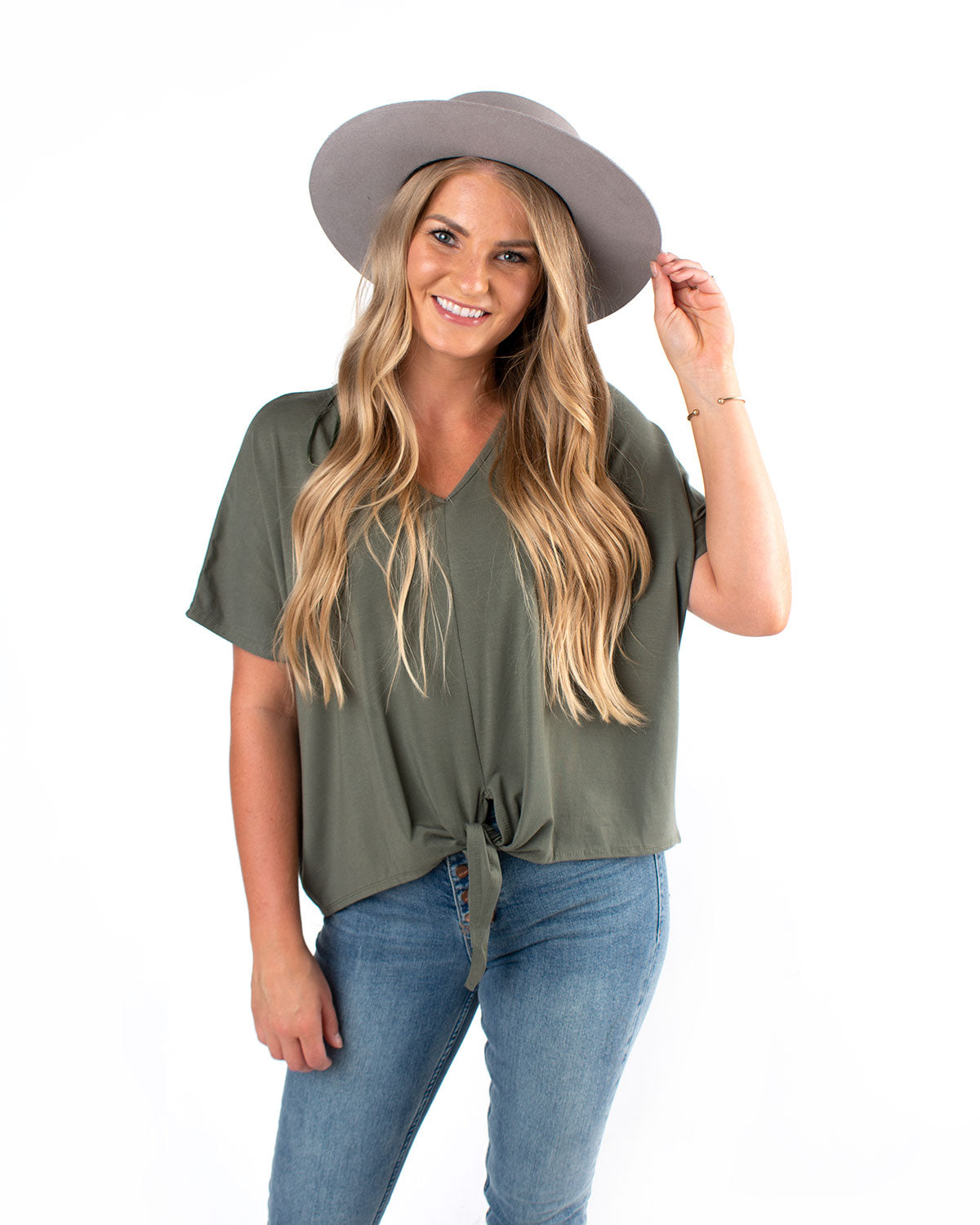Jersey Front Knot Top