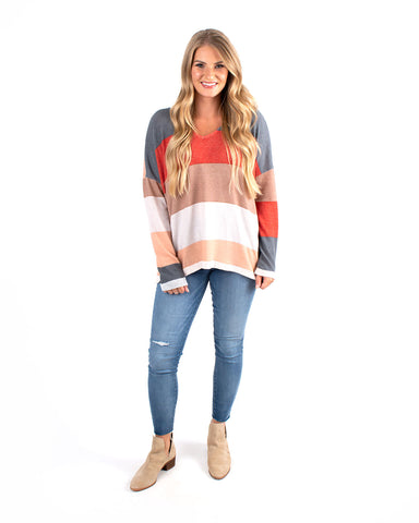 Color Blocked Jersey Long Sleeve