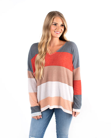 Color-Blocked Jersey Long Sleeve