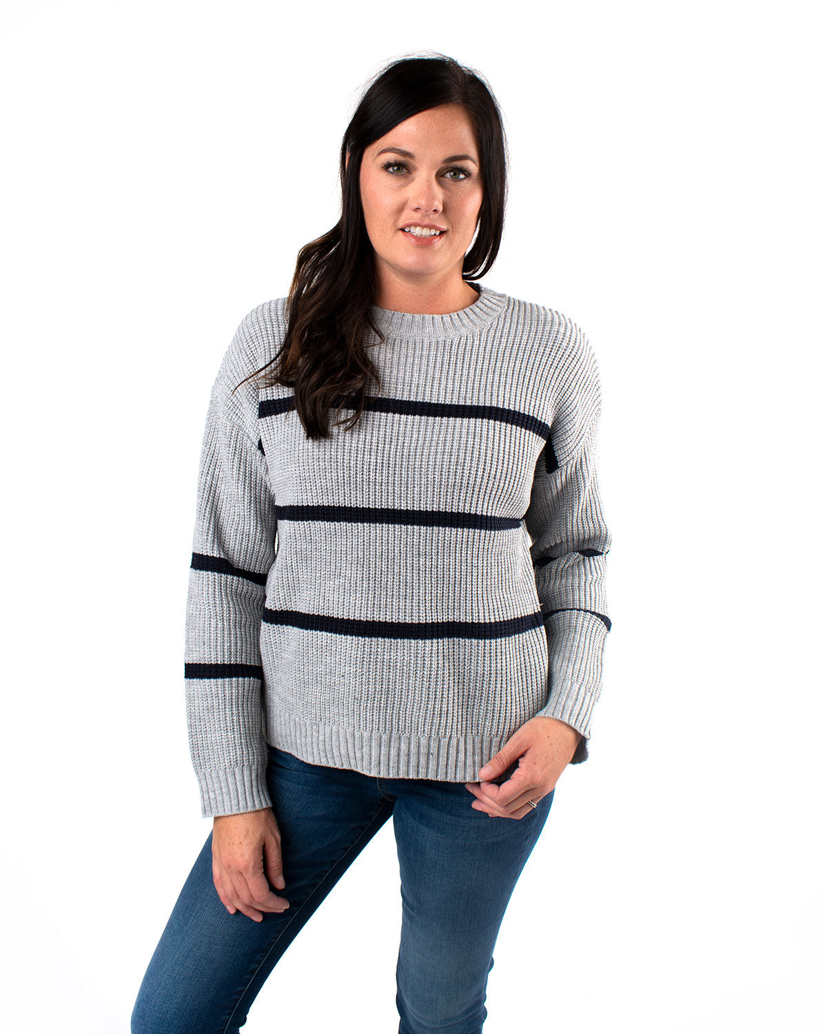 Mini Stripe Acrylic Sweater
