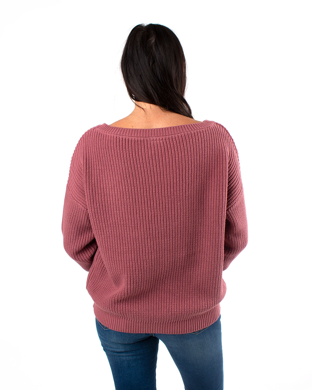 Wide Neck Knit Pullover