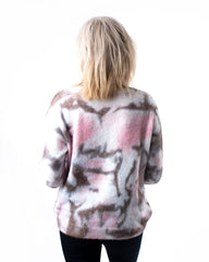 Tie Dye Printed Sweater Top