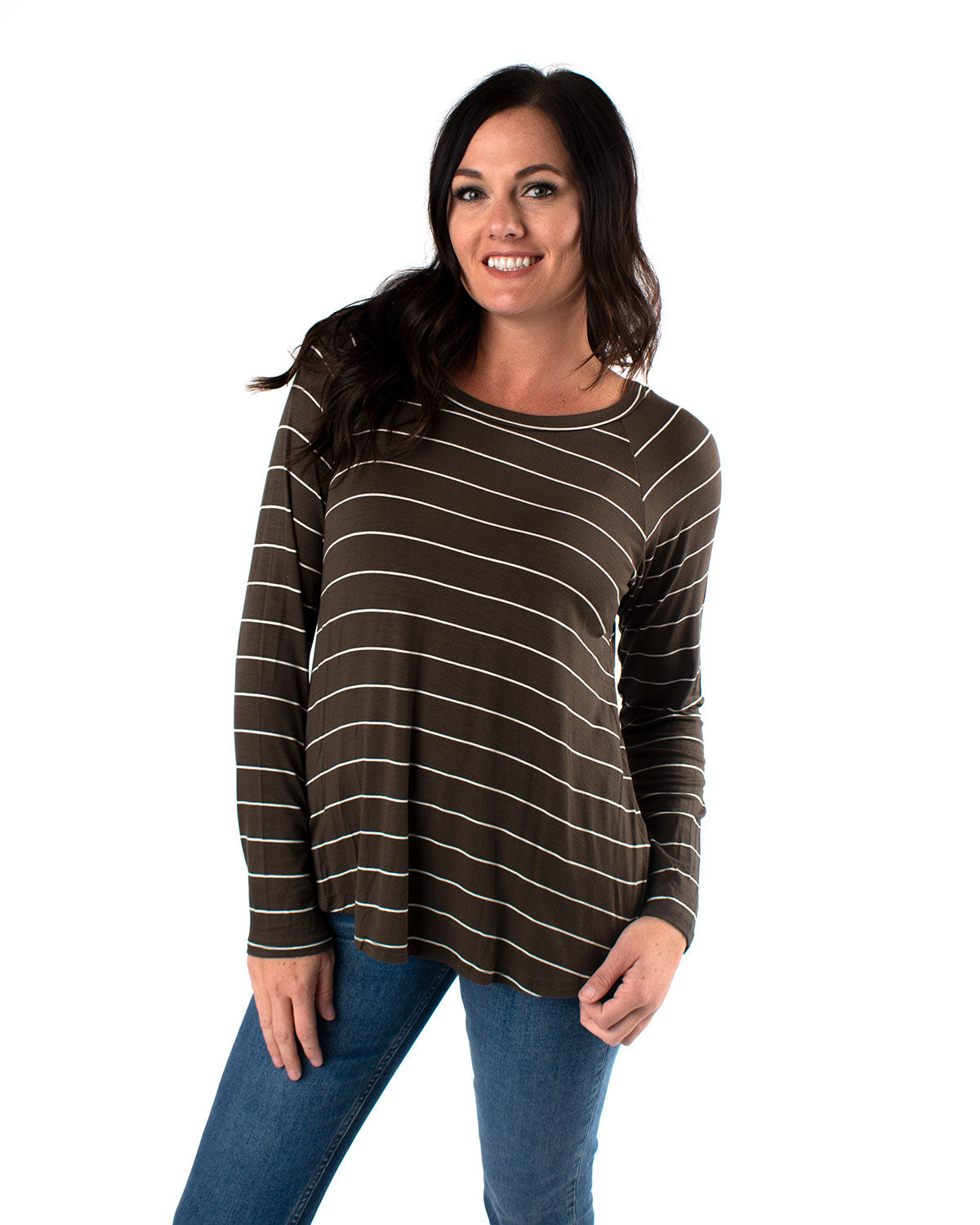Striped Baseball Knit Tee