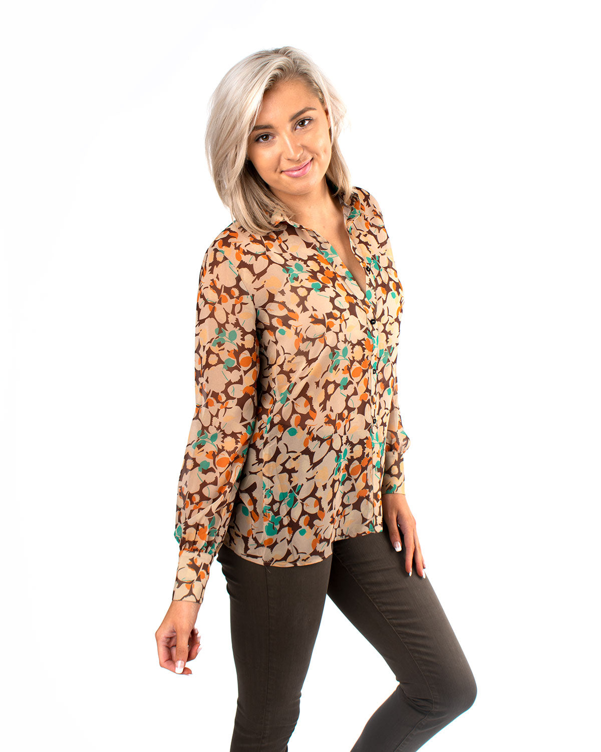 Indian Summer Button Up Blouse