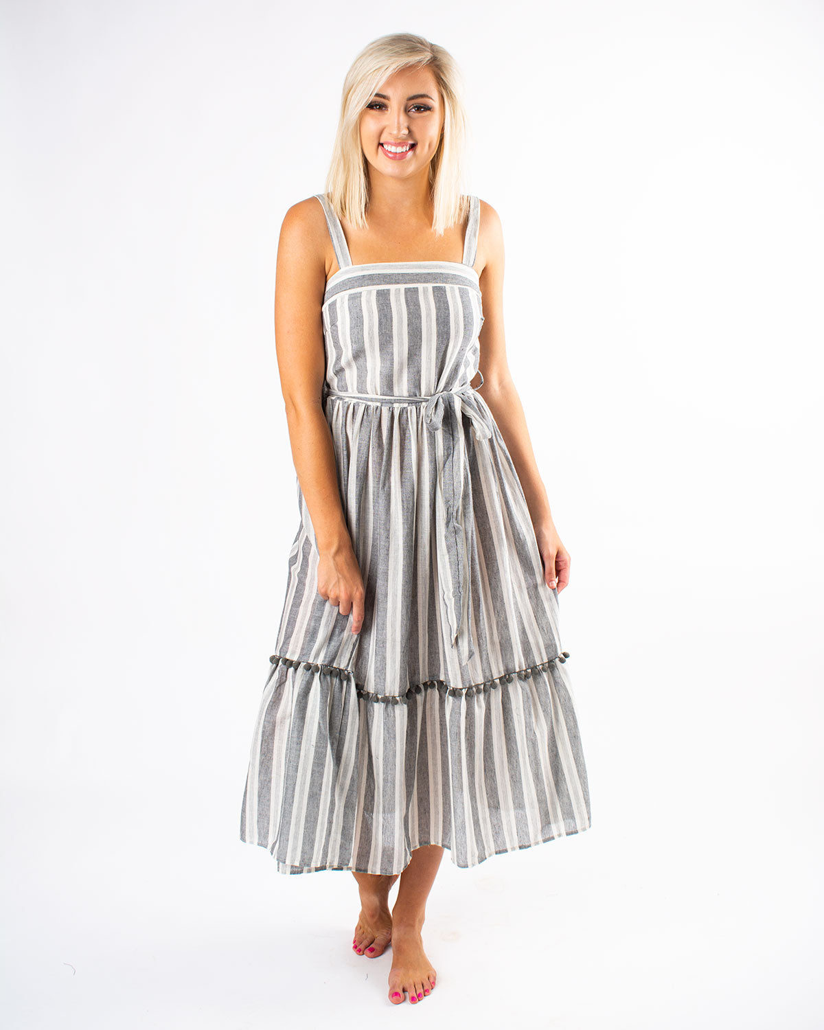 Cotton Stripe Tube Dress