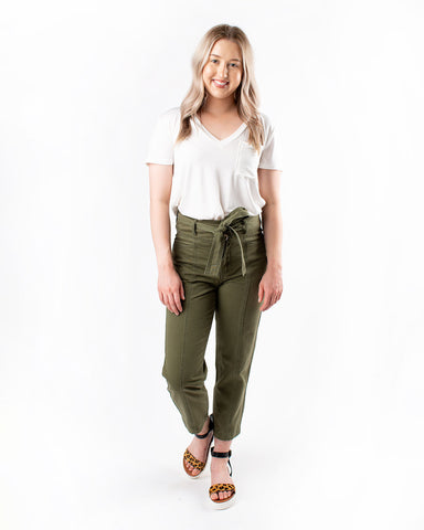Belted Casual Pants