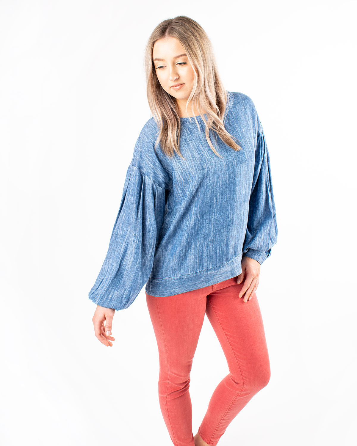Wide Neck Drop Shoulder Shirt