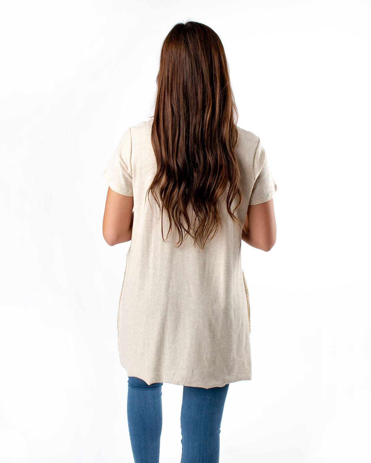 Hi-Low Linen Blended Tunic
