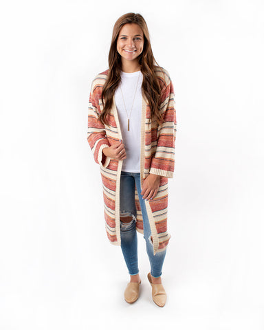 Duster Striped Cardigan