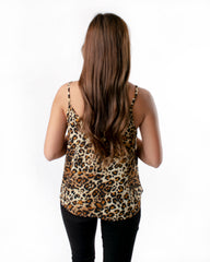 Patterned Spaghetti Strap Tank