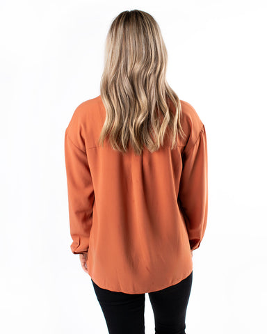 Pick Up Front Long Sleeve Top