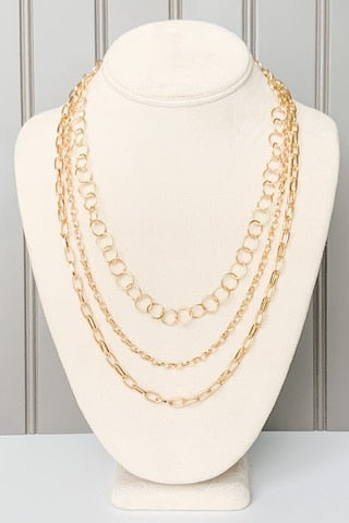 Three-Layer Chain Necklace