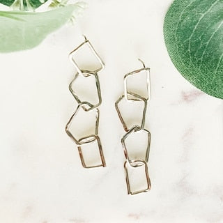 Metal Shapes Dangle Earrings