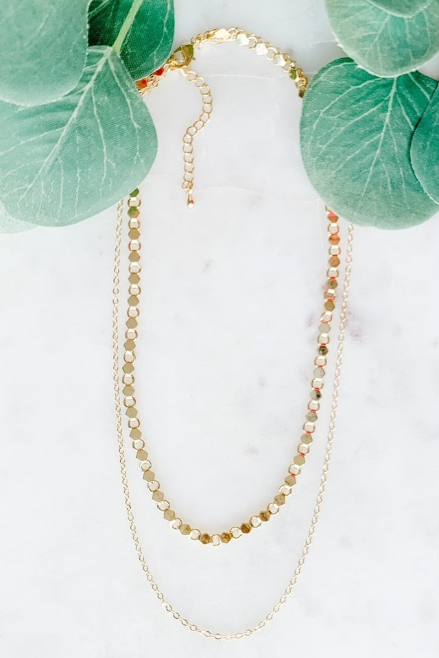 Two-Layer Metal Chain Necklace