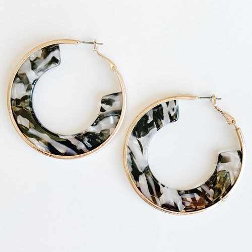 Hoop Resin Earrings