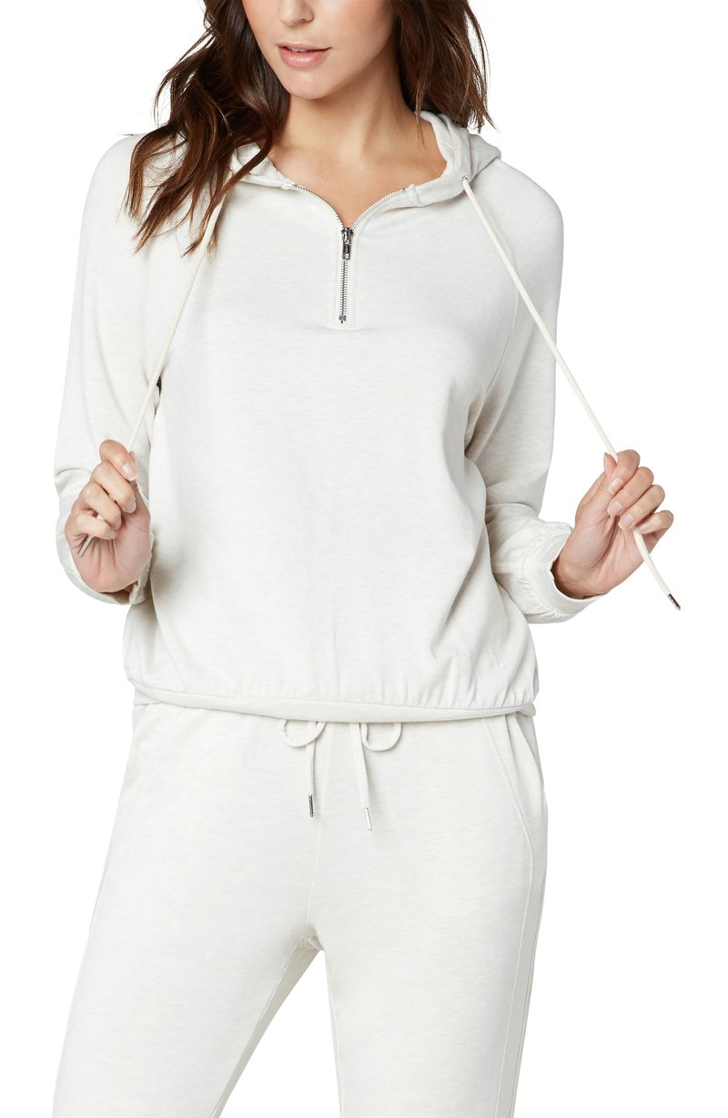 Hooded Raglan Zip Popover