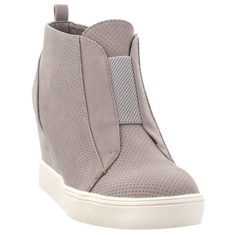 Gray Sporty Wedge Sneaker